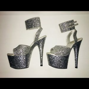 Shiny Glitter Pleaser Heels